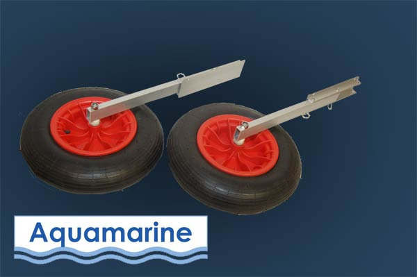 Small Boat Wheels : Launching wheels for inflatable boats set or aluminum
