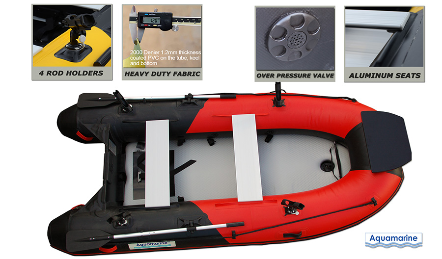 10 ' Inflatable boat with high pressure air  deck HEAVY duty