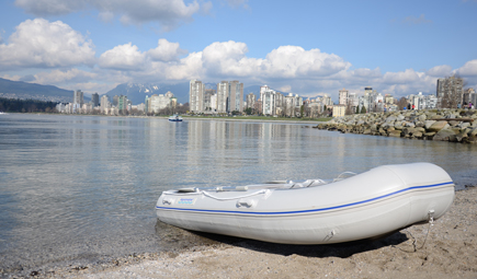 11 ' inflatable boat with high pressure airfloor