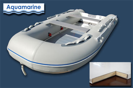 12 ' inflatable fishing boat with fiberglass transom
