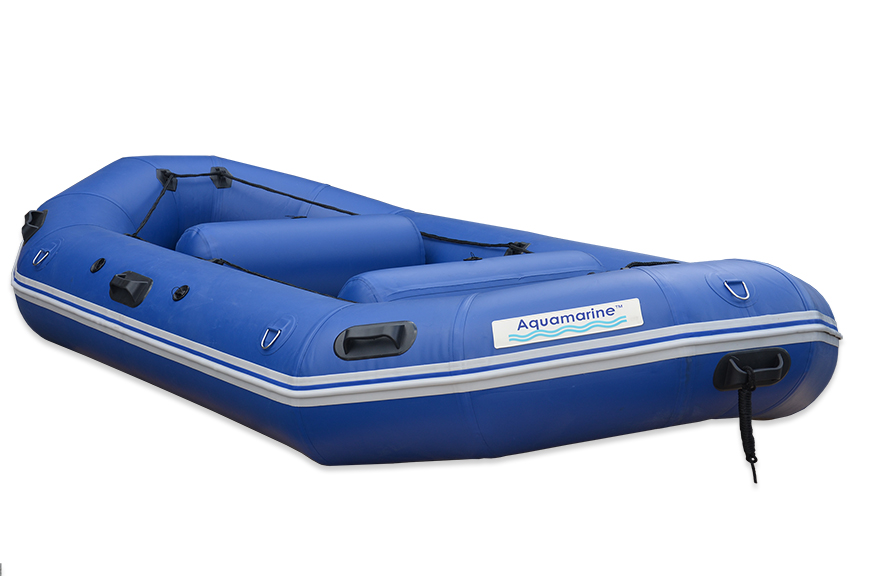 Inflatable river raft white  water self self bailler