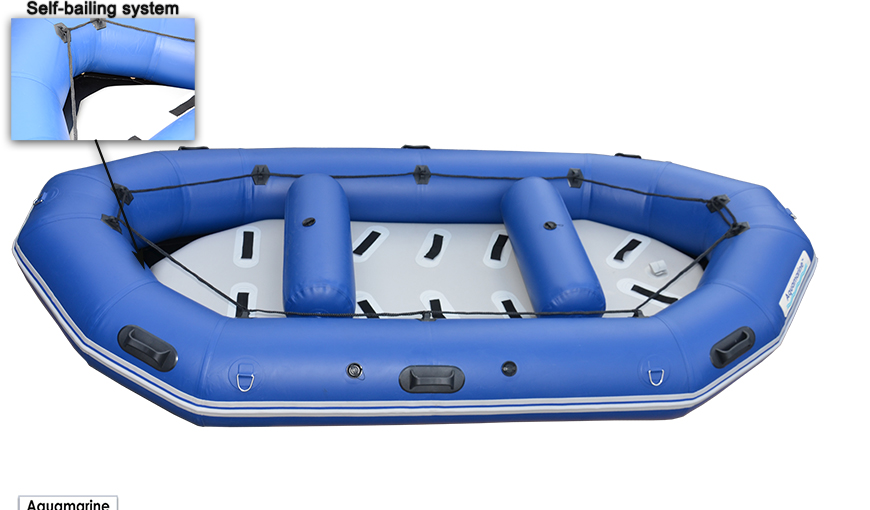 12 ft heavy duty  white water inflatable river raft