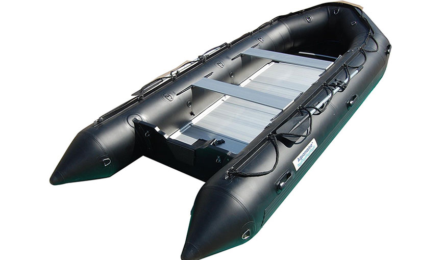 14 FT INFLATABLE BOAT HEAVY DUTY MILITARY BLACK