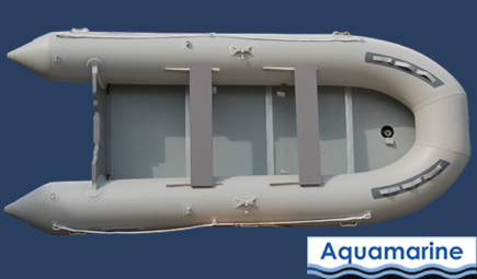 14 ' Inflatable boat  With solid floor front view