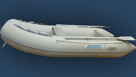 Aquamarine dinghy with fiberglass floor