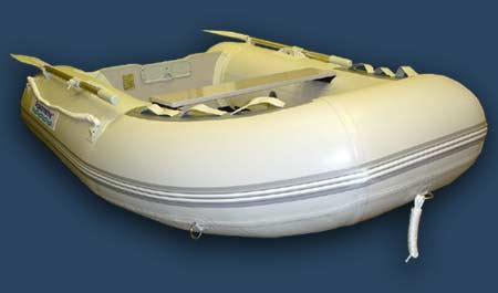 small utility inflatable PVC boat dinghy with aluminum floor