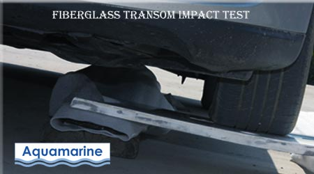 Fiberglass impact test  for inflatable boat