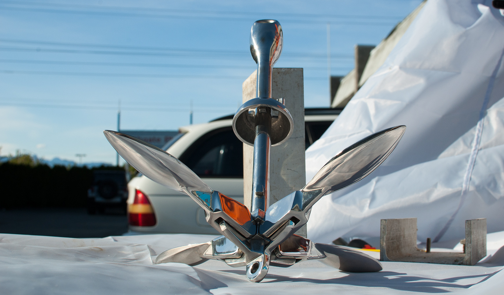 Folding Anchor Grapnel Type 3.3 Lb 1.5 Kg Stainless Steel