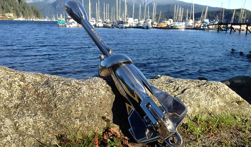 Folded view of Grapnel anchor 3 kg stainless steel 7 lb
