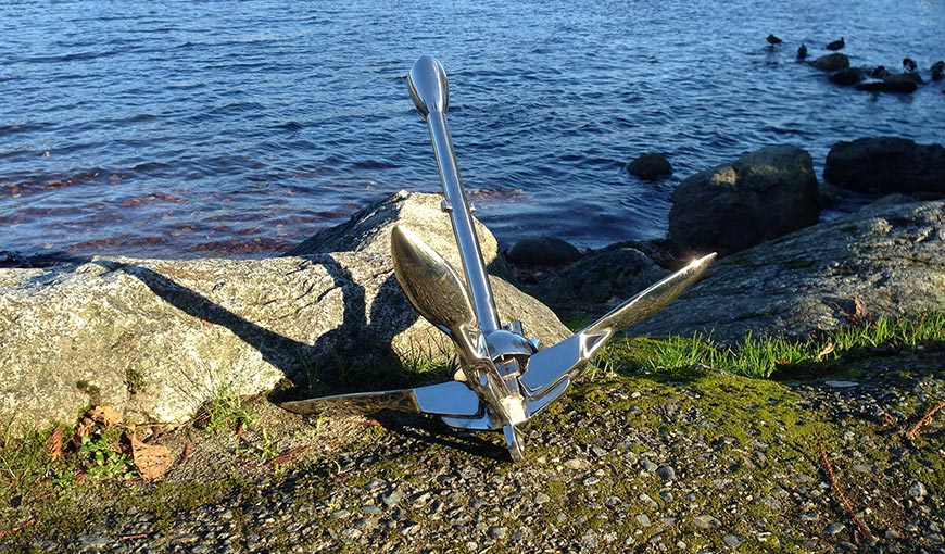 Folding Grapnel anchor 3 kg stainless steel 7 lb
