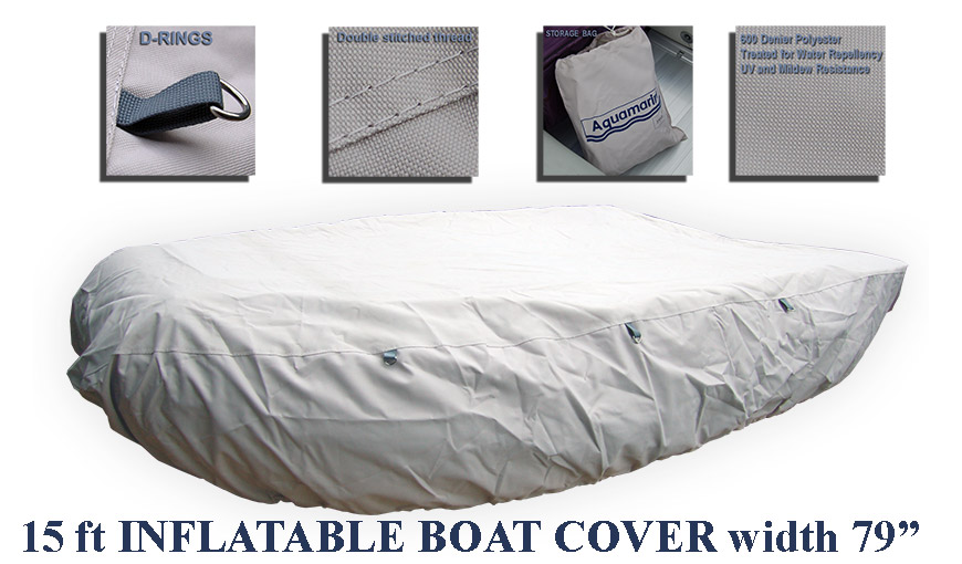 Accessories for 15.5' inflatable boat with ALUMINUM FLOOR-15'_15.5' boat cover (470cm)  WIDTH 79
