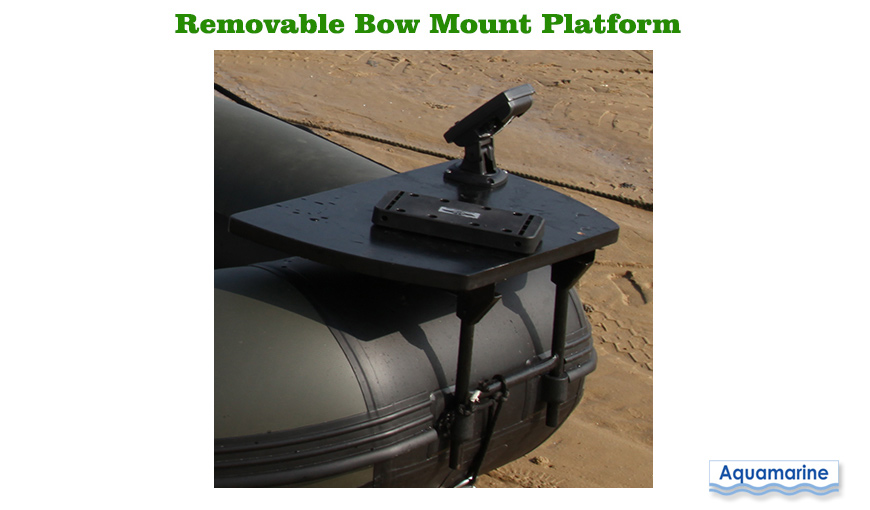 Boat bow motor mount kit stainless for inflatable boat for Trolling motor fish finder