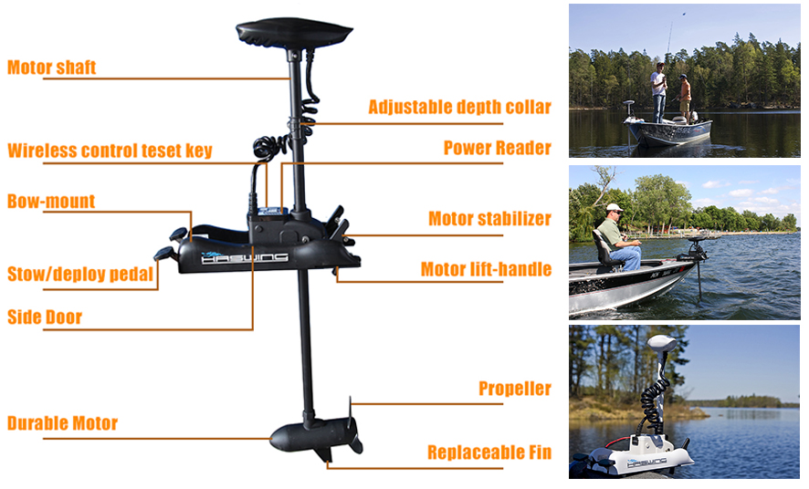 Related Products Trolling motor 55 lb remote controlled -Cayman B 55 lbs Electric Motor Bow Mount