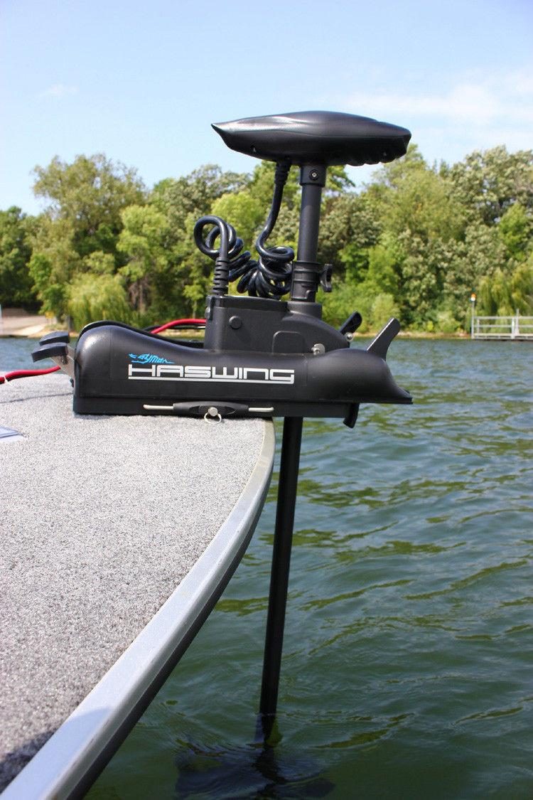 cayman b 55 lbs haswing electric trolling motor bow mount