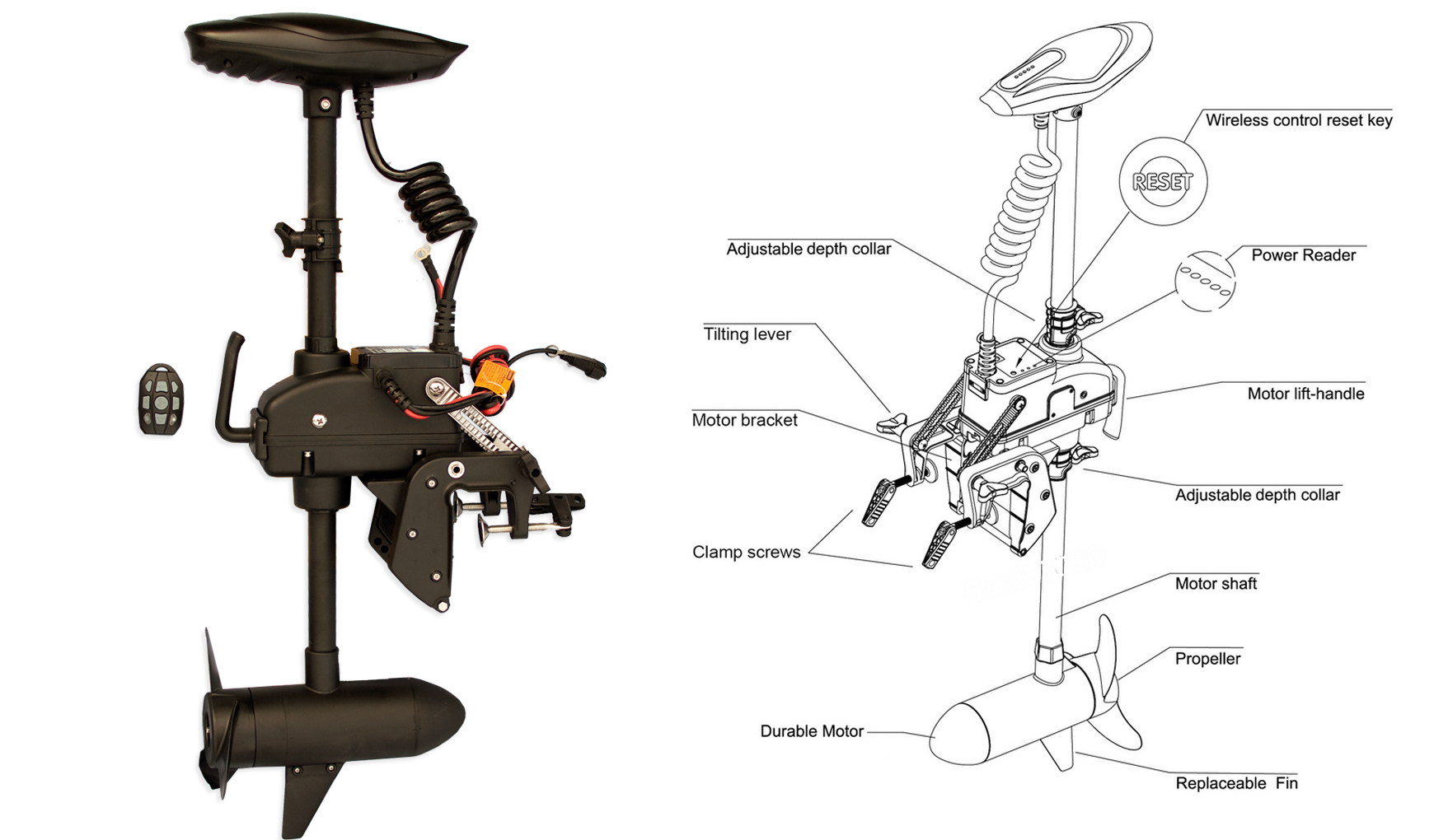 trolling motor 55 lb remote controlled haswing