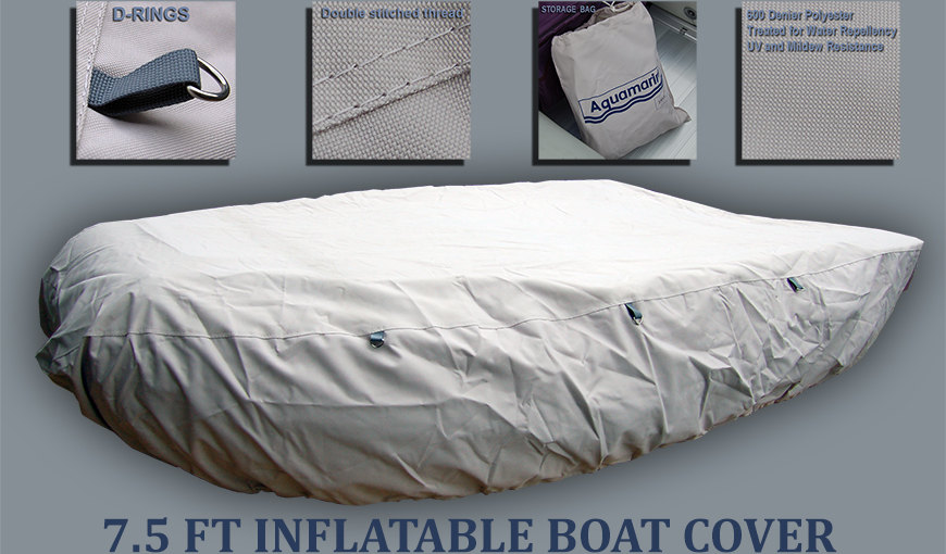 Accessories for 7.5 ft Inflatable fishing boat with PLYWOOD  FLOOR-7.5 ft boat cover (240cm) w: 62 inches