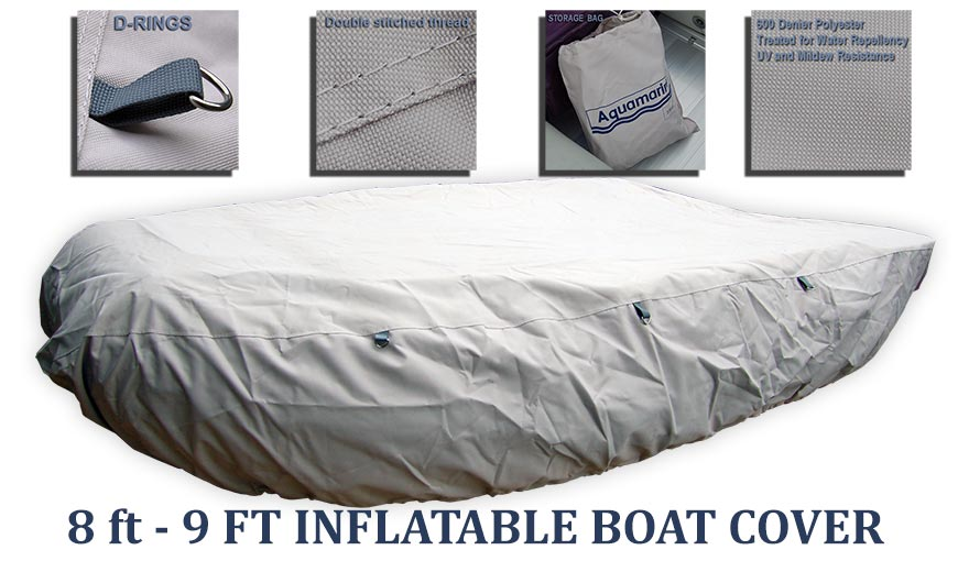 Accessories for 8.8' inflatable boat w FIBERGLASS FLOOR (GYF-270)-8.2'_9' boat cover (270cm) w 62 in