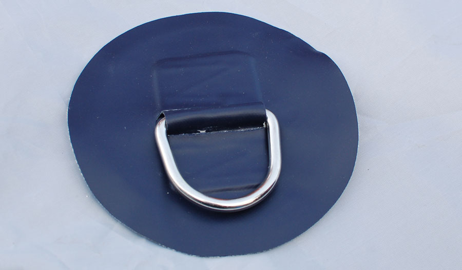 D-ring for inflatable dinghy PVC 6 inches blue