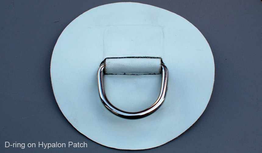D-ring on Hypalon Patch for Inflatable boat dinghy