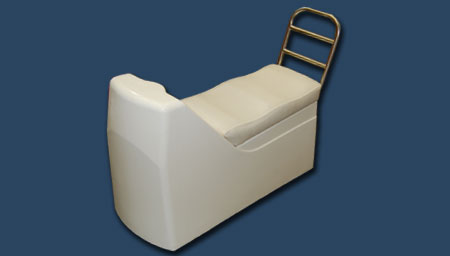 Fiberglass seat  for  inflatable boat