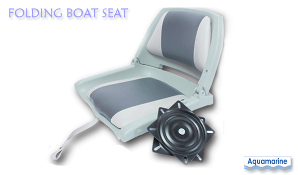Fold Down Boat Seat With Swivel For Fishing