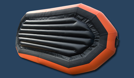 River raft 12 ft inflatable boat bottom view