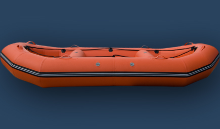 River raft 12 ft inflatable boat side view