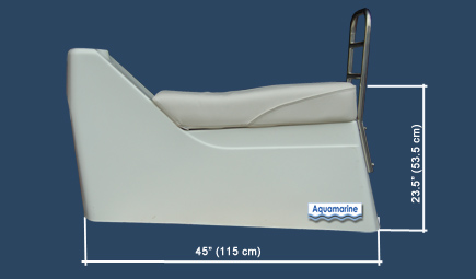 Jockey console for  inflatable dinghy with dimensions