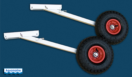 Launching wheels for inflatable boat 10 inches