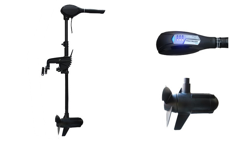 Electric trolling motor 65 lbs protruar 1 0 12 volts for Electric trolling motor battery size