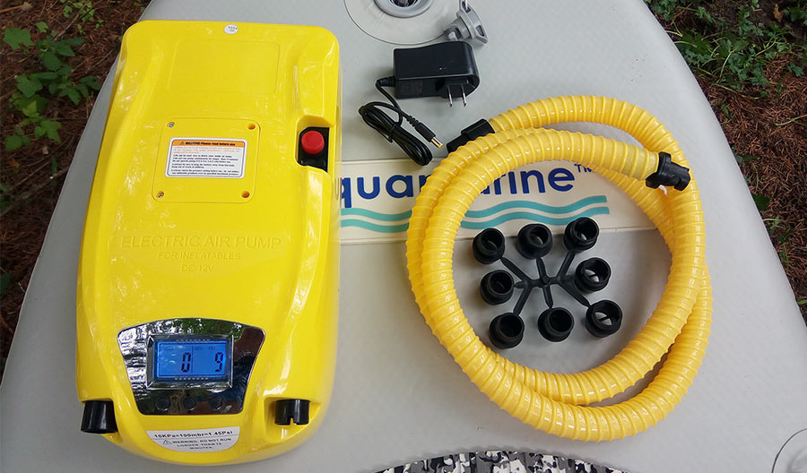 electric pump for inflatable boat with built in battery