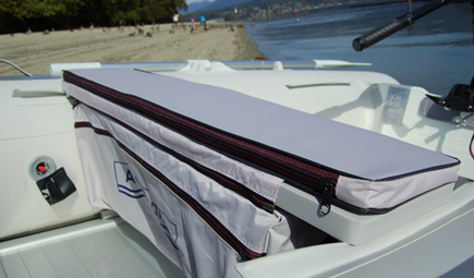 cushion for inflatable  boat with detachable underseat bag