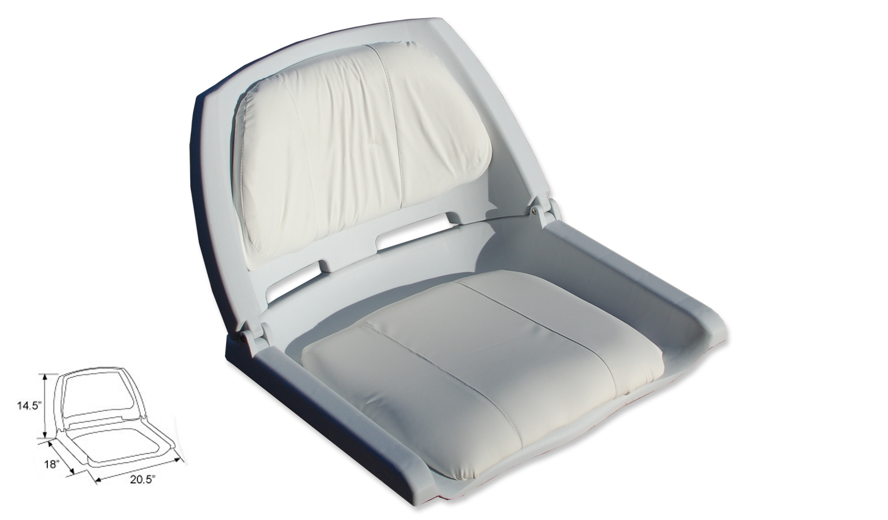 Boat fishing seat fold down chair for Fishing boat seat