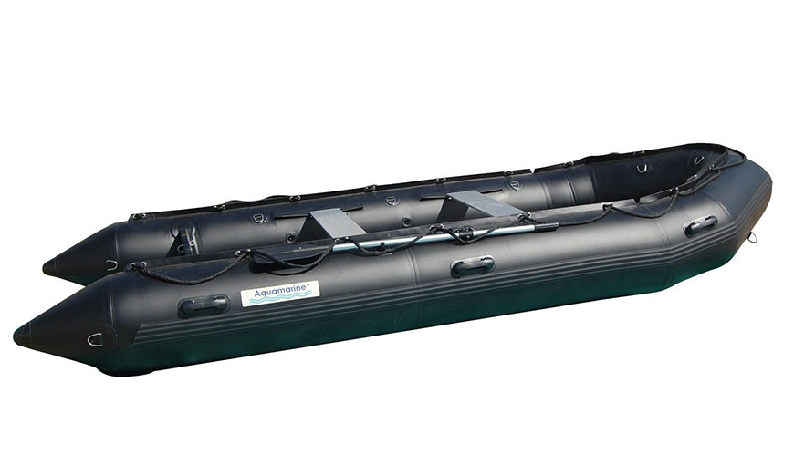 14 Ft Inflatable Boat Pro Heavy Duty Military Black