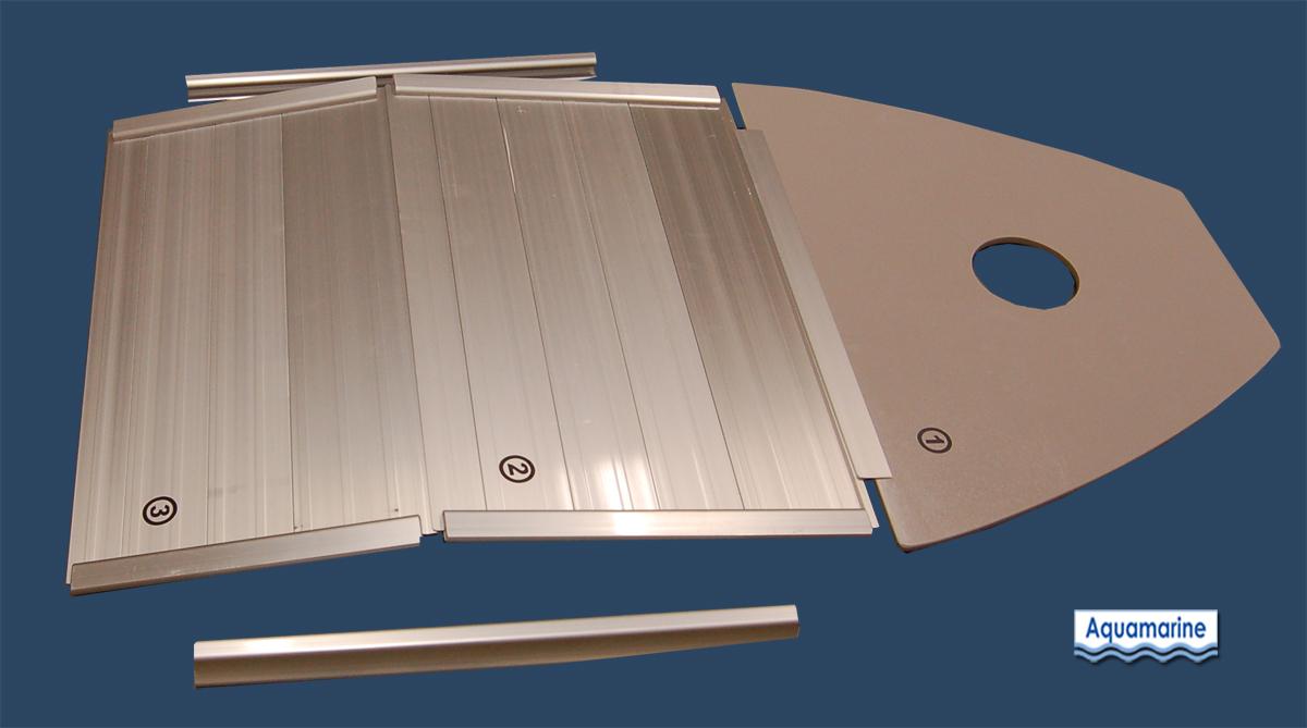 Aluminum Floor For 7 5 Inflatable Boat Aquamarine