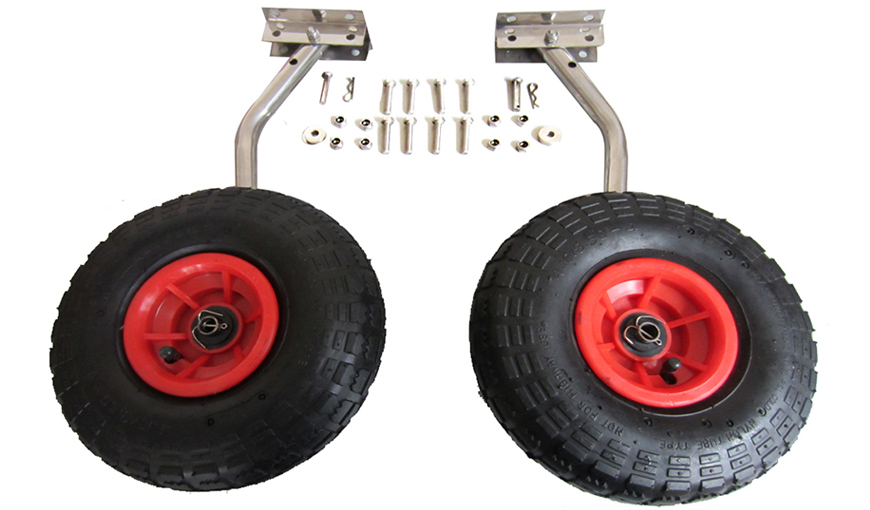 Small Boat Wheels : Launching wheels for small inflatable boat