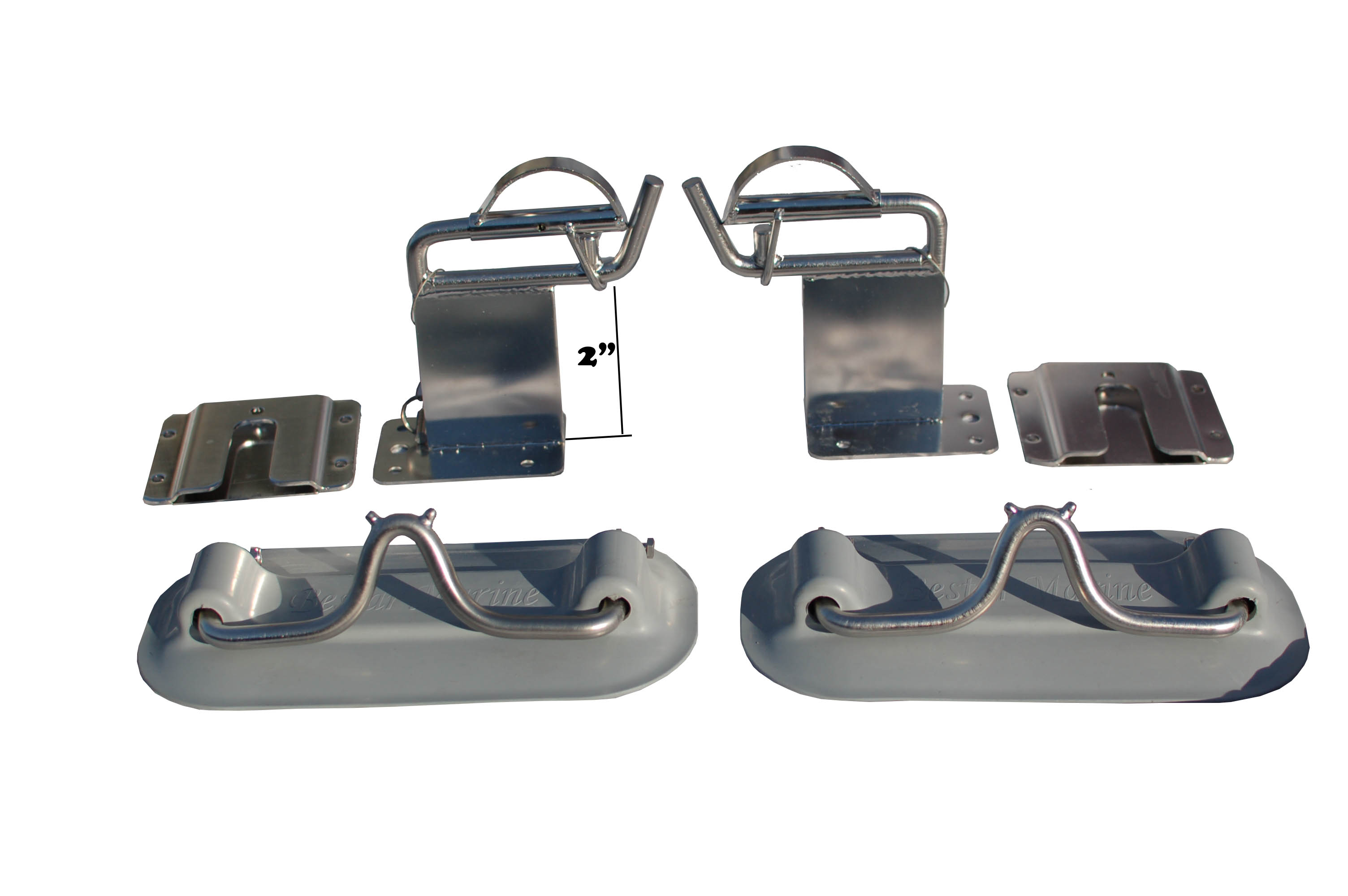 2 x Snap Davits for Inflatable Dinghy Swim Platform with Quick Release kit